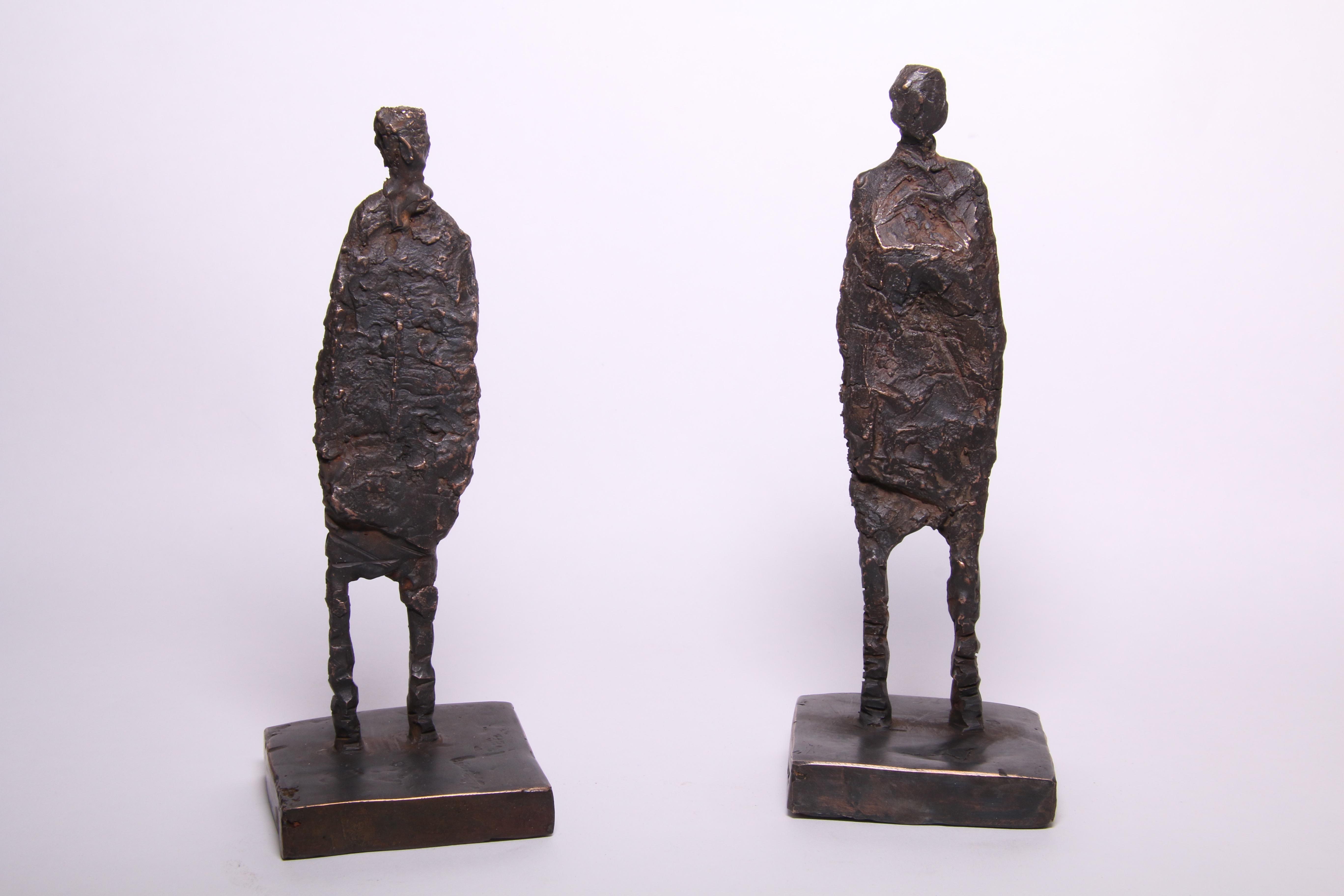 Bronze figures 190 high x70mm wide