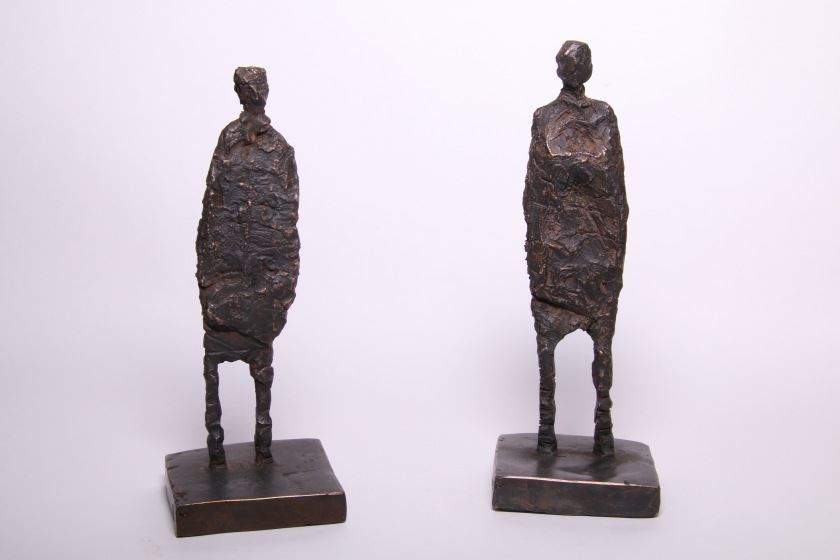 Bronze figures 190 high x70mm wide